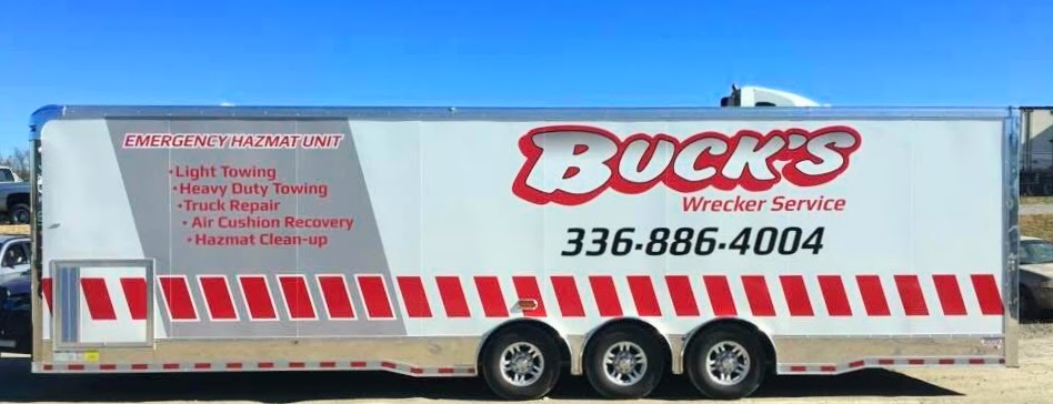 HazMat Cleanup Services trailer for Buck's Environmenta in Central North Carolina.